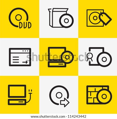 Software icons stock vector illustration 114243442 Vector image software