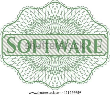 Software rosette (money style emplem)