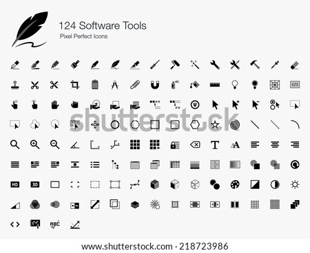 Software Tools Pixel Perfect Icons