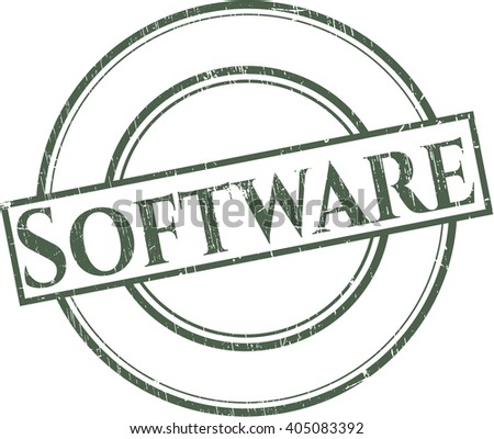 Software with rubber seal texture