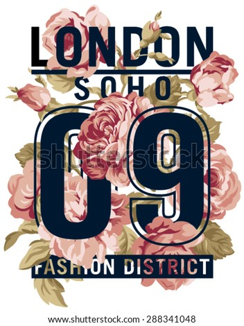 soho london roses   vector