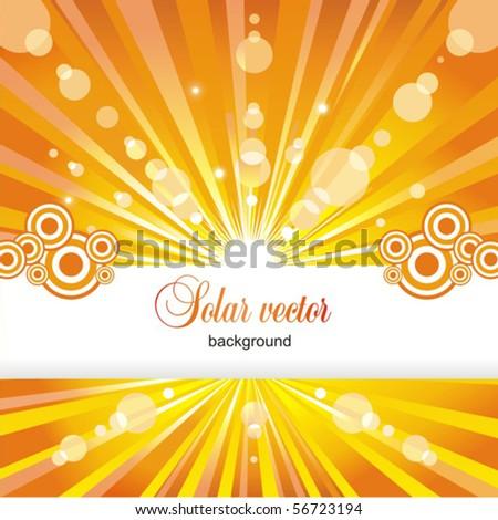 Solar background. Vector.