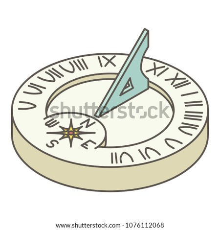 Solar clock icon. Isometric illustration of solar clock vector icon for web