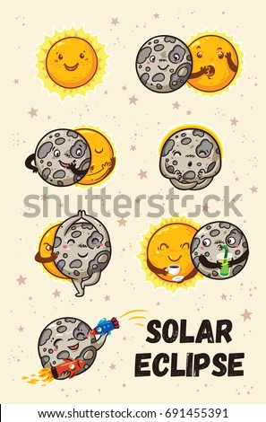 solar eclipse in phases