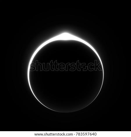 solar eclipse light vector