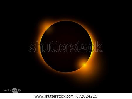 solar eclipse vector