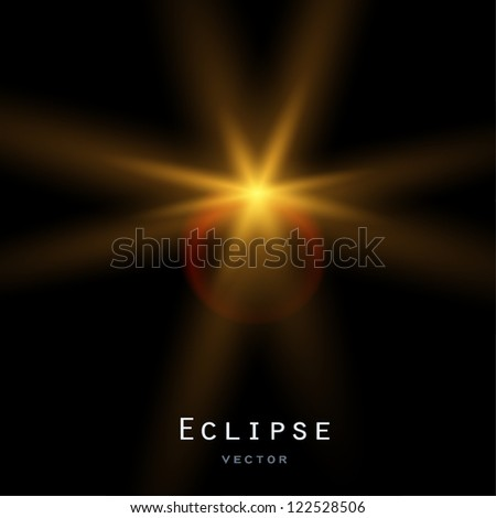 Solar eclipse. Vector background