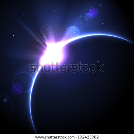 solar eclipse vector background