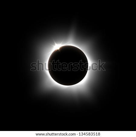 solar eclipse  vector eps 10