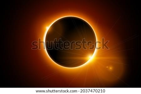 solar eclipse vector total sun