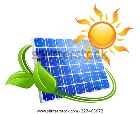 solar energy eco concept with a