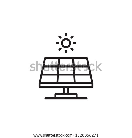 Solar energy panel. Solar Panel Icon vector. Flat web icon or sign isolated on white background. Trendy Flat style for graphic design, Web site, UI. EPS10. - Vector illustration