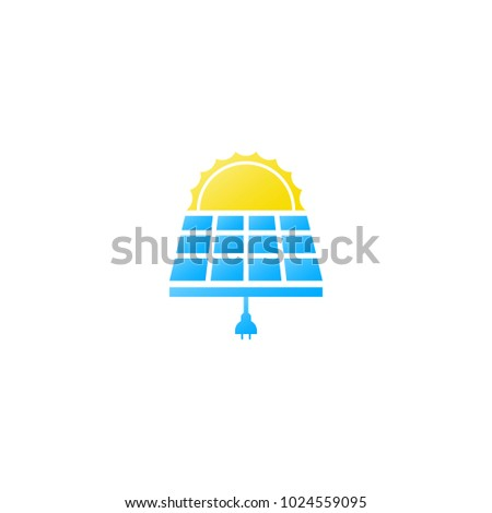 solar energy panels on background in a row produce sun rays flat solar panels vector illustration icon solar panels silhouettes trend concept design style symbol or solar panels sign isolated