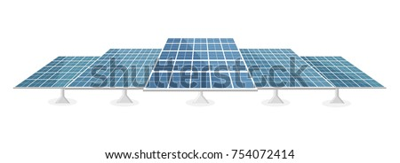 solar panel flat design isolated on white background