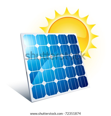 Solar Panel Icon Stock Vector 72351874 : Shutterstock
