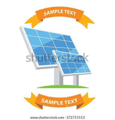 Solar panel icon. Modern technologies. Alternative energy sources.