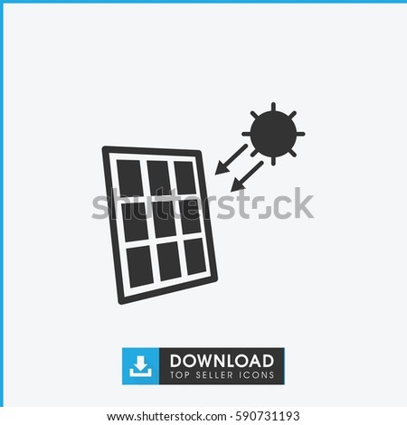 solar panel icon. Simple filled solar panel vector icon. On white background.