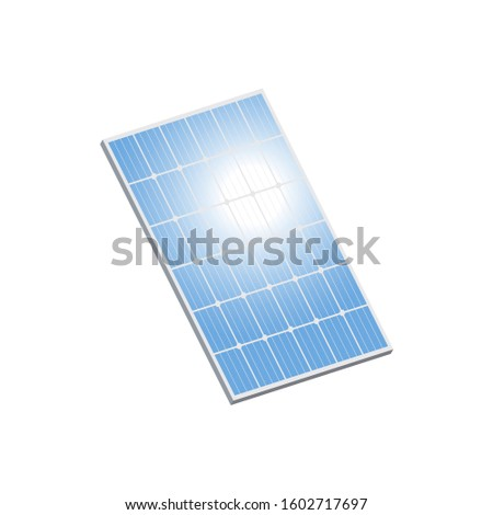 Solar panel.Solar panel, an alternative source of renewable energy.3d vector illustration and realistic isometric view.