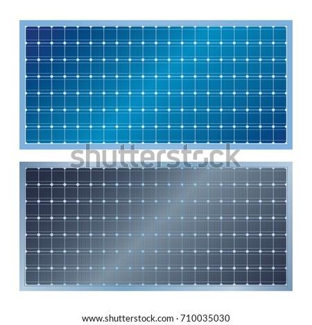 Solar Panel, Solar Power, Solar Cell vector art illustration, isolate on white