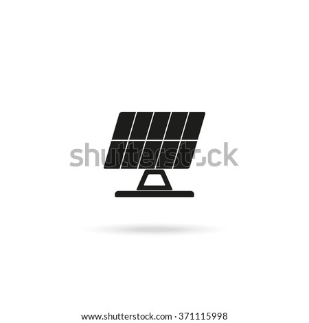 Solar panel vector icon.