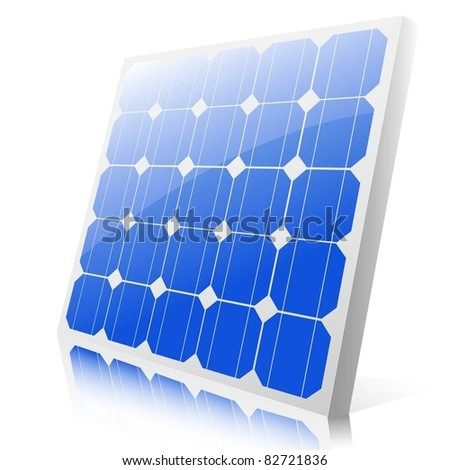 Solar panels. Vector.