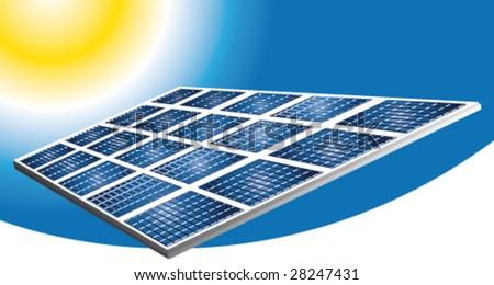Solar pannels vector banner