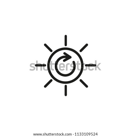 Solar renewable energy line icon. Sun, arrow, recycle. Alternative energy sources concept. Can be used for topics like environment protection, ecology, efficient consumption