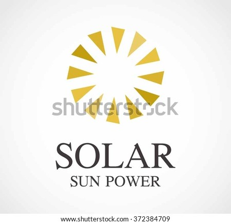 Solar sun of power motion abstract vector and logo design or template energy circle business icon of company identity symbol concept