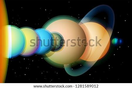 A solar system diagram - Download Free Vectors, Clipart