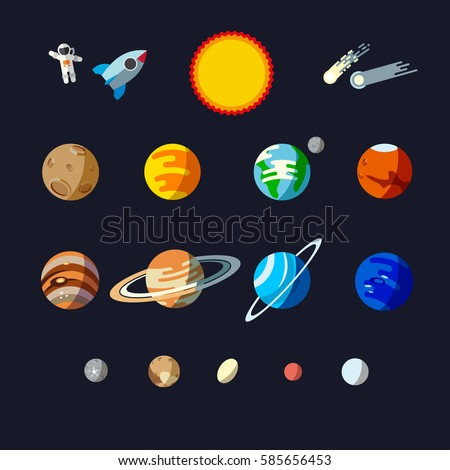 solar system objects  flat