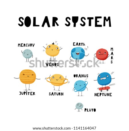 solar system set templates for