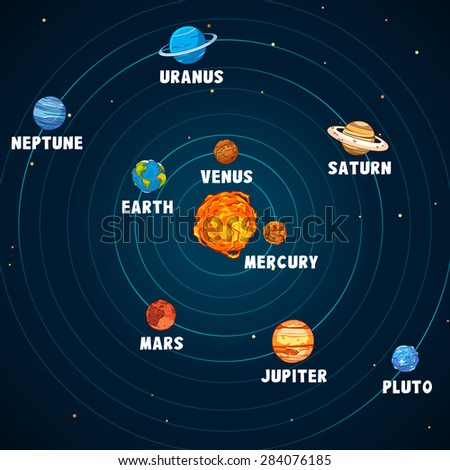 Solar system vector art and illustration. #284076185