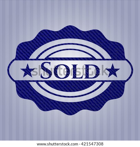 Sold emblem with jean high quality background
