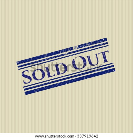 Sold Out grunge stamp