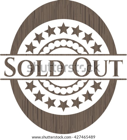 Sold Out realistic wood emblem