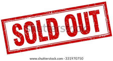 sold out red square grunge stamp on white. sold out stamp. sold out. sold out sign