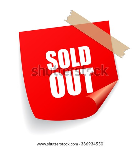sold out vector sticker
