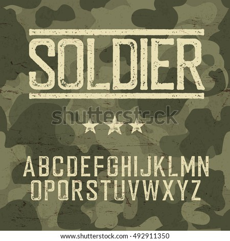 stock-vector-soldier-alphabet-military-design-set-army-design-elements-military-camouflage-seamless-pattern