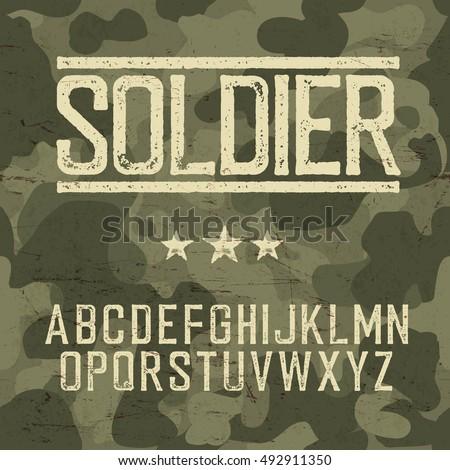 soldier alphabet military