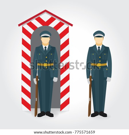 soldier and guard of honor