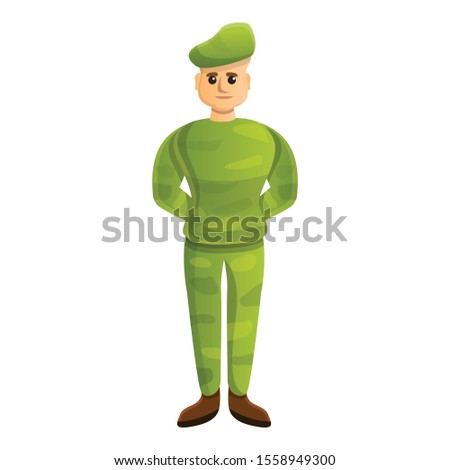 Soldier beret icon. Cartoon of soldier beret vector icon for web design isolated on white background
