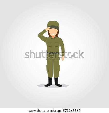 soldier character vector
