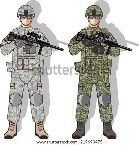 soldier full gear