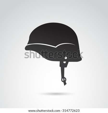 soldier helmet icon isolated on