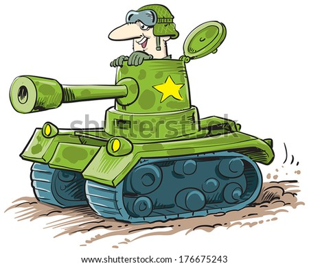 soldier in a tank ready to