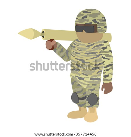 soldier in camouflage with a