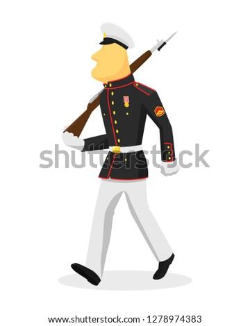 soldier in uniform of us