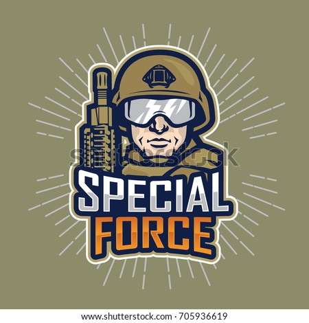 soldier special force vector