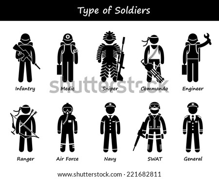 soldier types and class stick