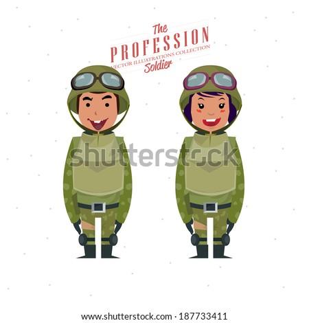 soldier   vector illustration